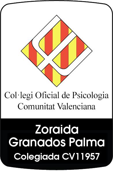 Colegiada por el Colegio Oficial de Psicologos de la Comunidad Valenciana